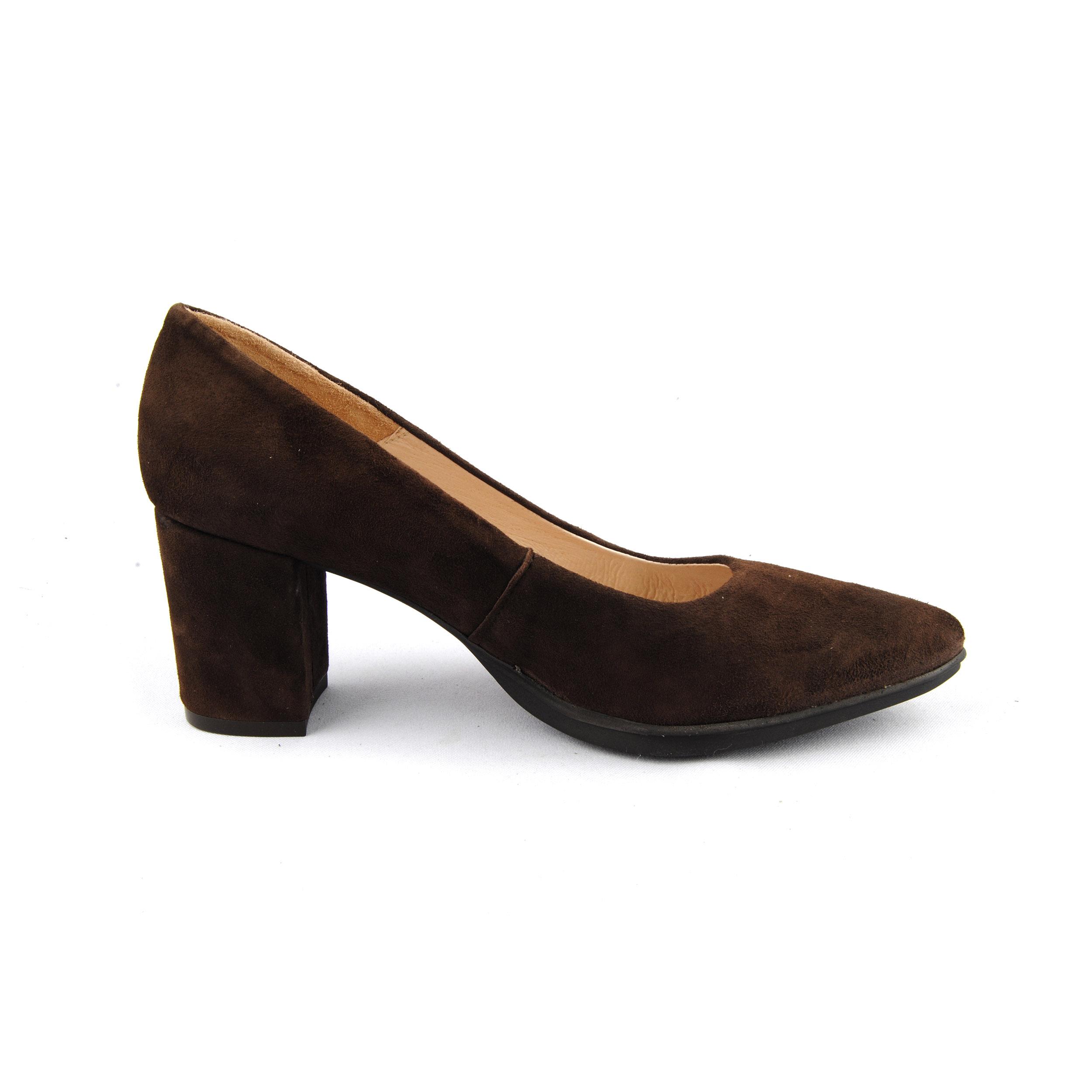 Sotoalto Zapato De Tacón De Ante Betho Marrón Tacón: 7,5 cm